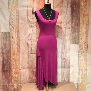 Annika sleeveless scoop stretch maxi dress P141